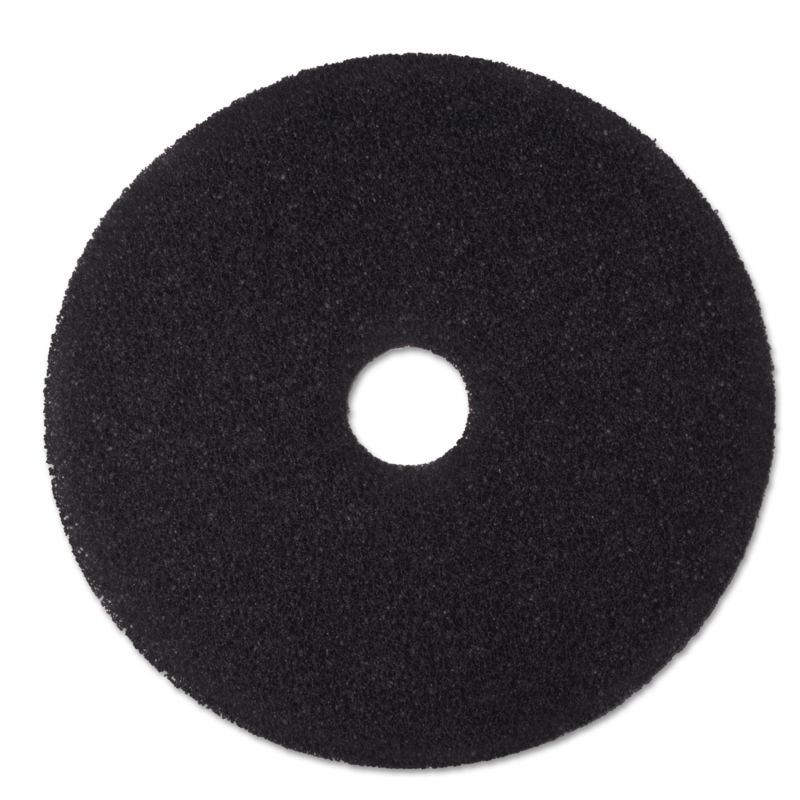 3M MMM08381 Stripper Floor Pad 7200 19 Black 5 Count