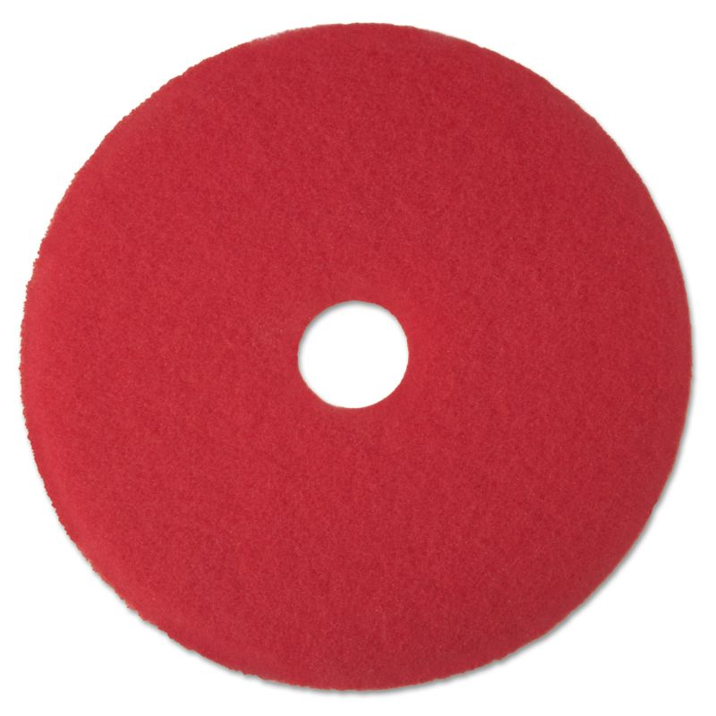 3M MMM08387 Buffer Floor Pad 5100 12 Red 5 Count