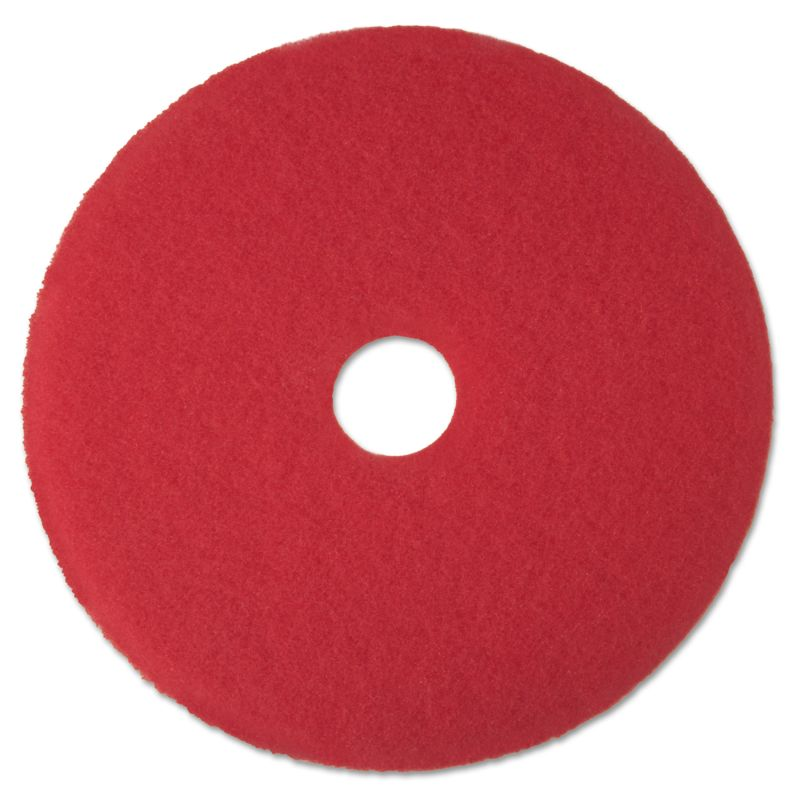 3M MMM08392 Buffer Floor Pad 5100 17 Red 5 Count