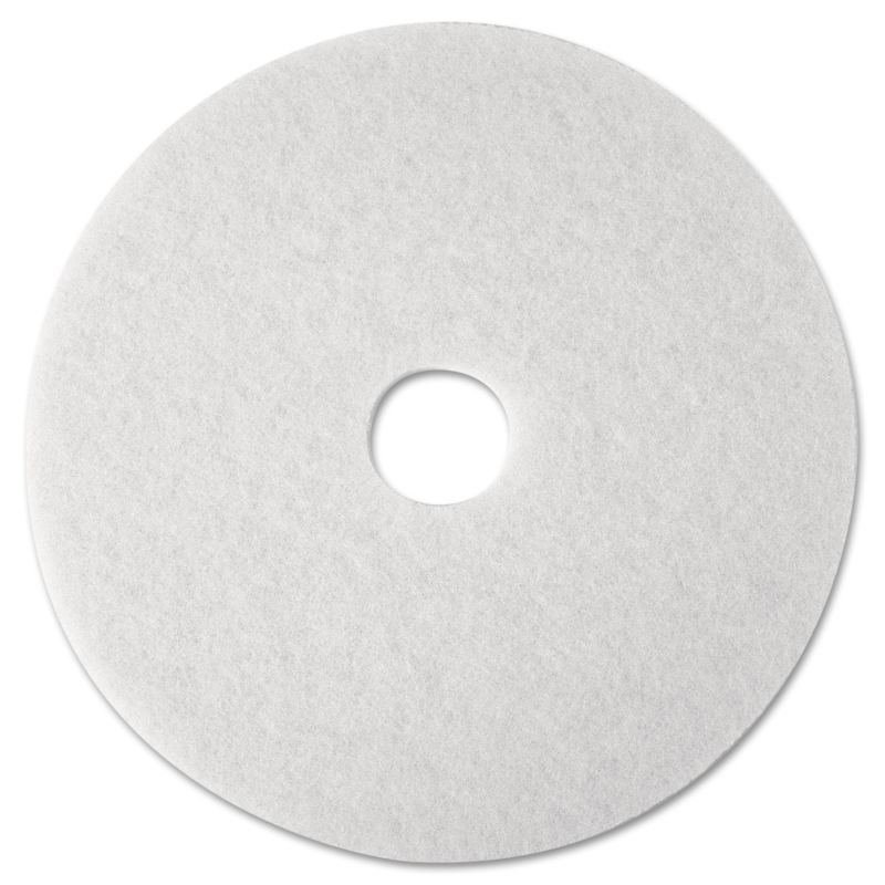 3M MMM08476 Super Polish Floor Pad 4100 12 White 5 Count