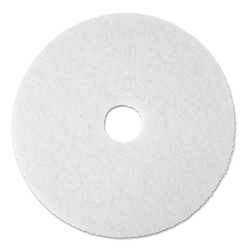3M MMM08481 Super Polish Floor Pad 4100 17 White 5 Count