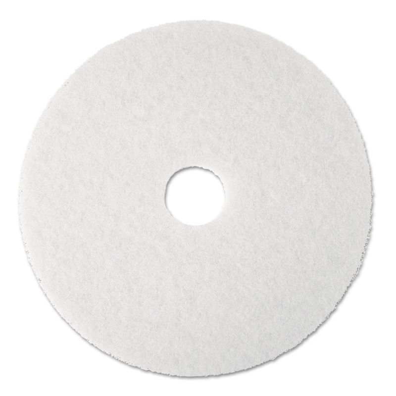 3M MMM08483 Super Polish Floor Pad 4100 19 White 5 Count
