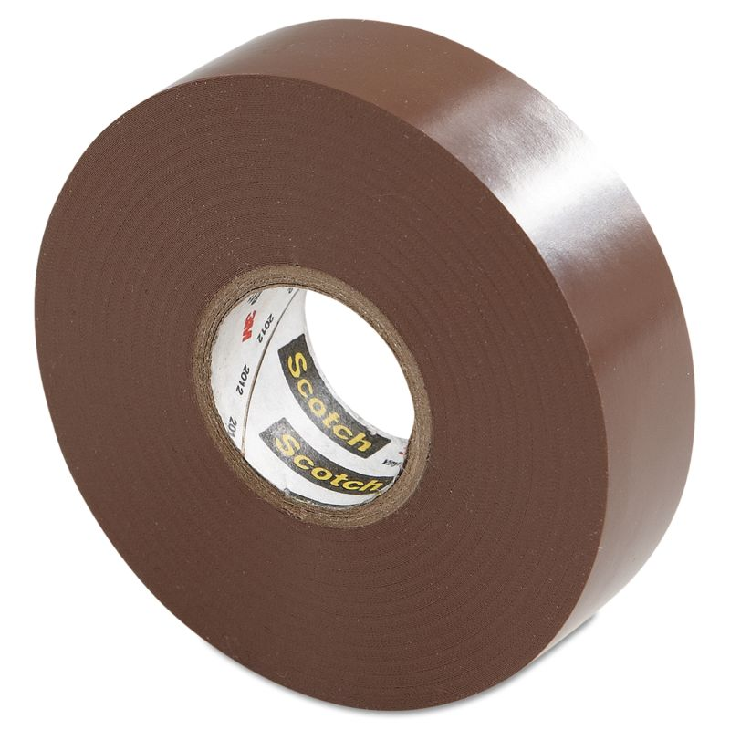 3M MMM10885 Scotch 35 Vinyl Electrical Color Coding Tape Brown 34 x 66ft