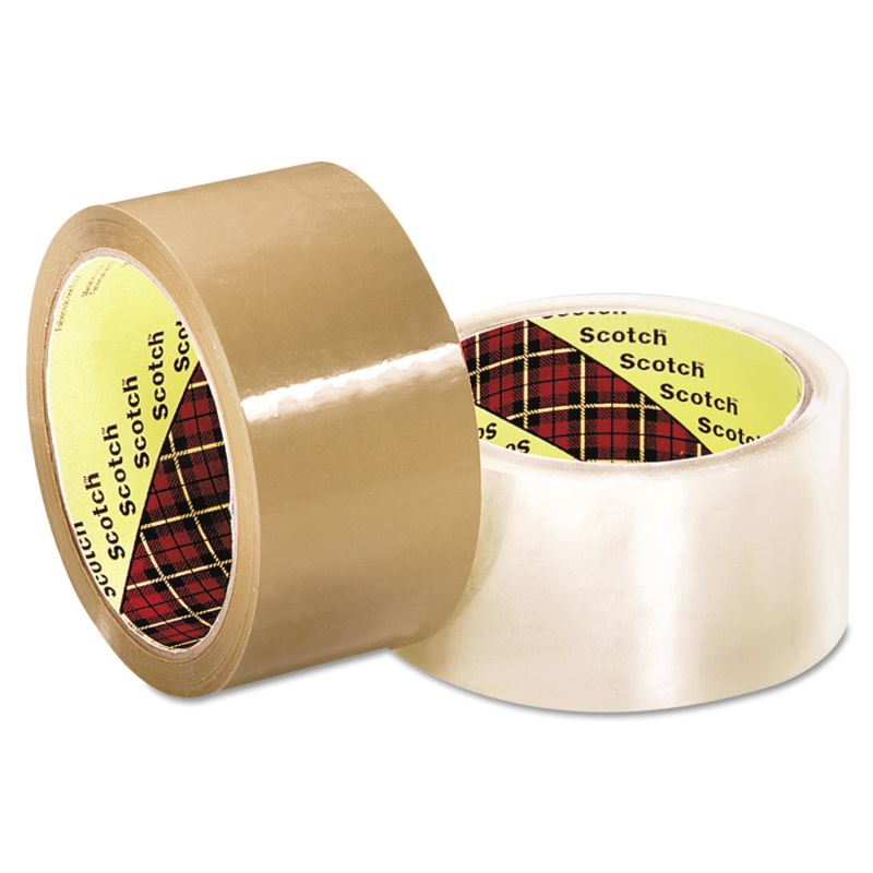 3M MMM2120013679 Scotch 371 Industrial Box Sealing Tape Clear 48 mm x 50 M