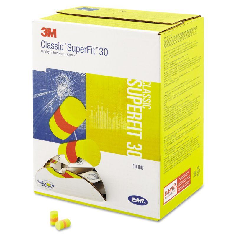 3M MMM3101009 E A R Classic Superfit 33 Foam Earplug Uncorded Pillow Pack 200