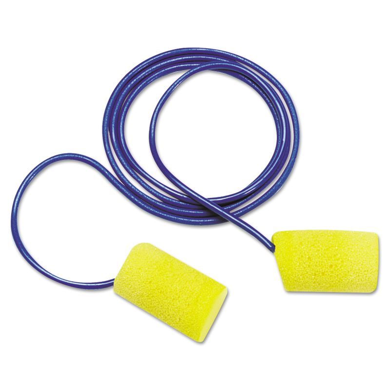 3M MMM3114101 E A R Classic Foam Earplugs Metal Detectable Corded Poly Bag 2