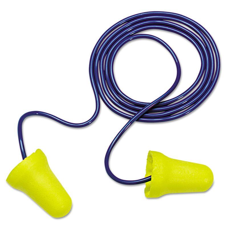 3M MMM3121222 E A R E Z Fit Single Use Earplugs Corded 28 NRR Yellow Blue 20