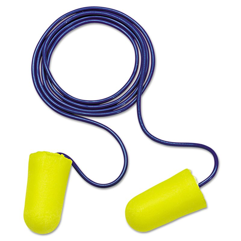 3M MMM3121223 E A R Taperfit 2 Single Use Earplugs Corded 32 NRR Yellow Blue