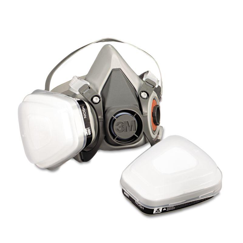 3M MMM6111PA1A Half Facepiece Paint SprayPesticide Respirator Small