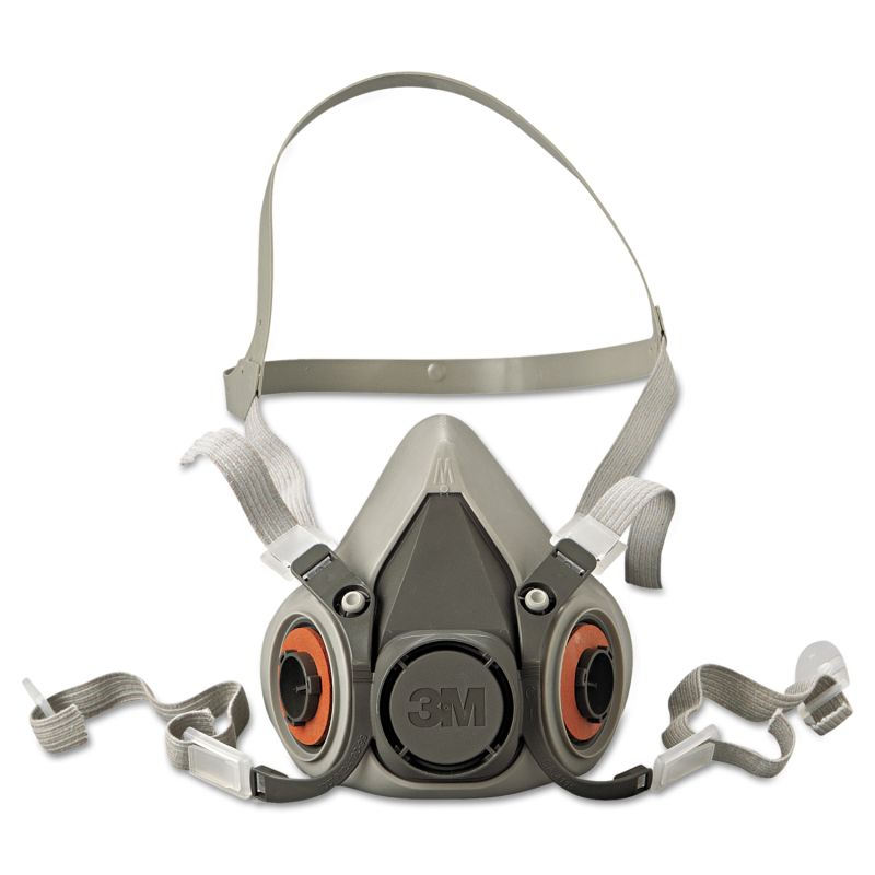 3M MMM6200 Half Facepiece Respirator 6000 Series Reusable Medium