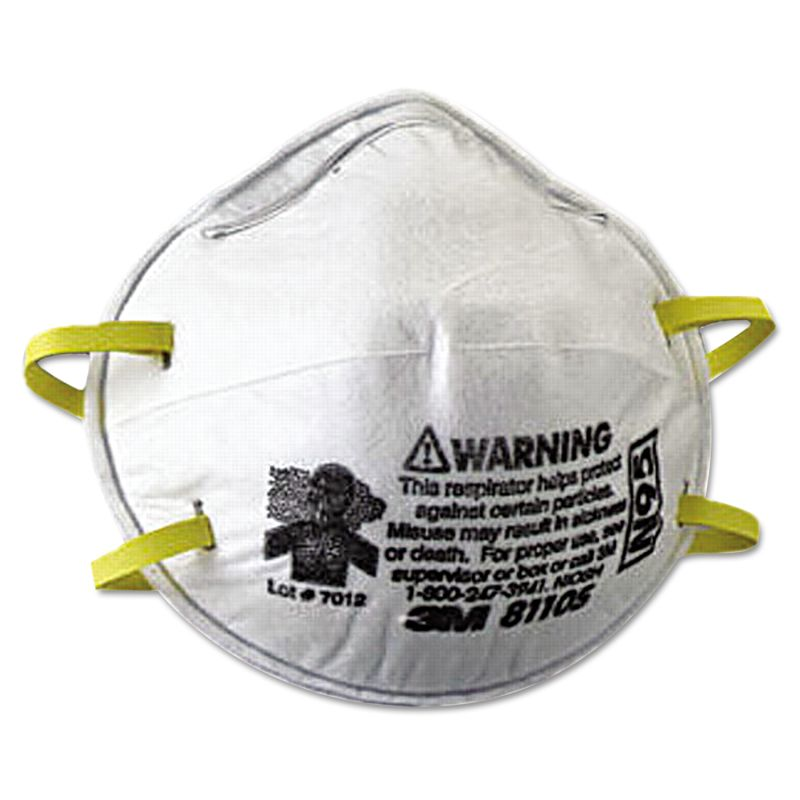 3M MMM8110S N95 Particulate Respirator Half Facepiece Small Fixed Strap 20B