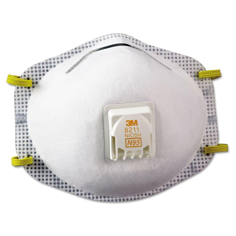 3M MMM8211 Particulate Respirator 8211 N95 10Box