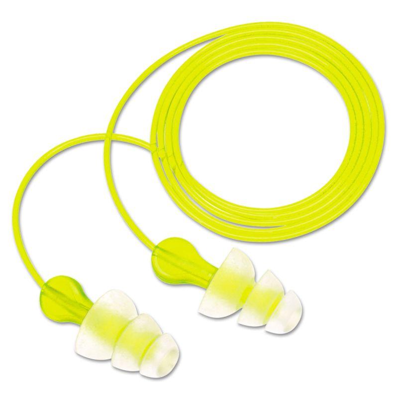 3M MMMP3000 Tri Flange Earplugs Corded NRR 26 100 Pairs