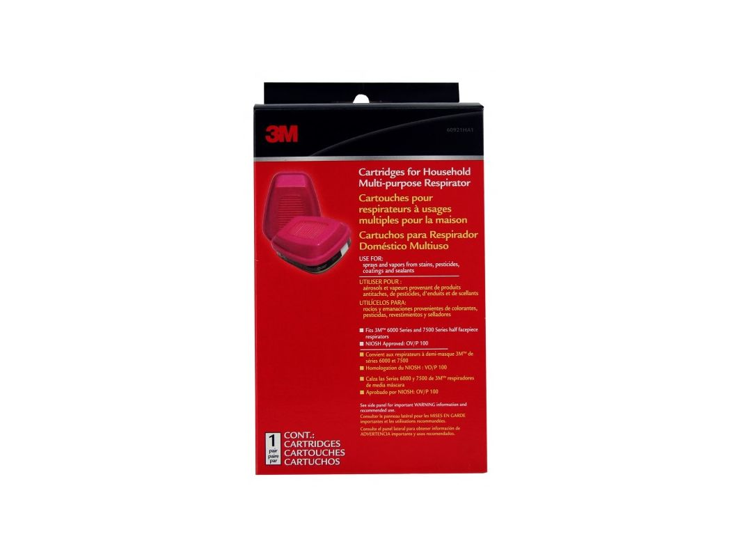 3M 60921HB1 A Replacement Cartridge For Household Multipurpose Respirator