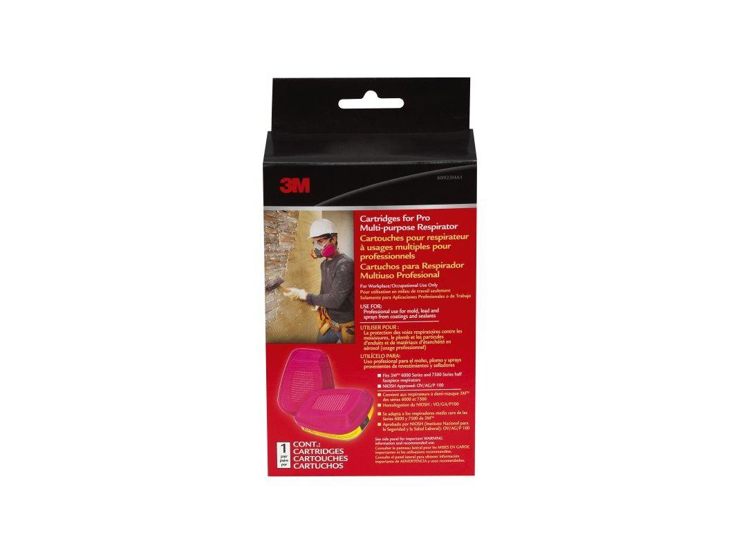 3M 60923HB1 C Replacement Cartridges for Pro Multi Purpose Respirator