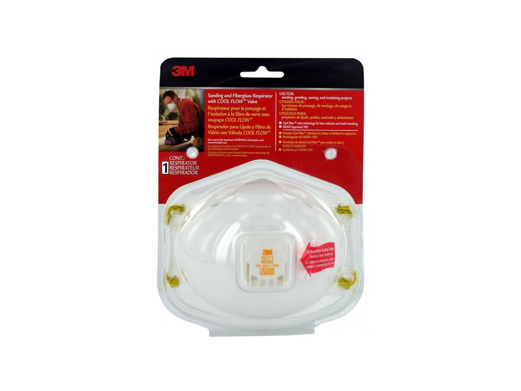 3M 8511HA1 C Sanding and Fiberglass Valved Respirator