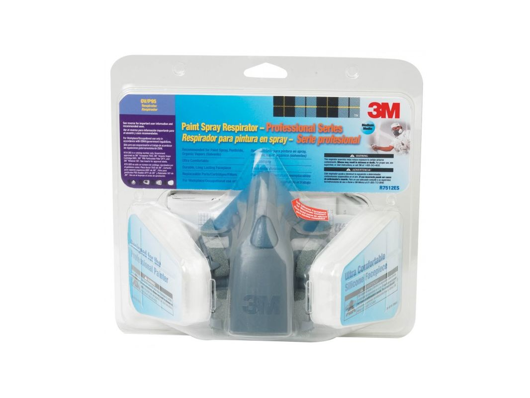 3M 7512PA1 A Professional Series Respirator Assembly With Case