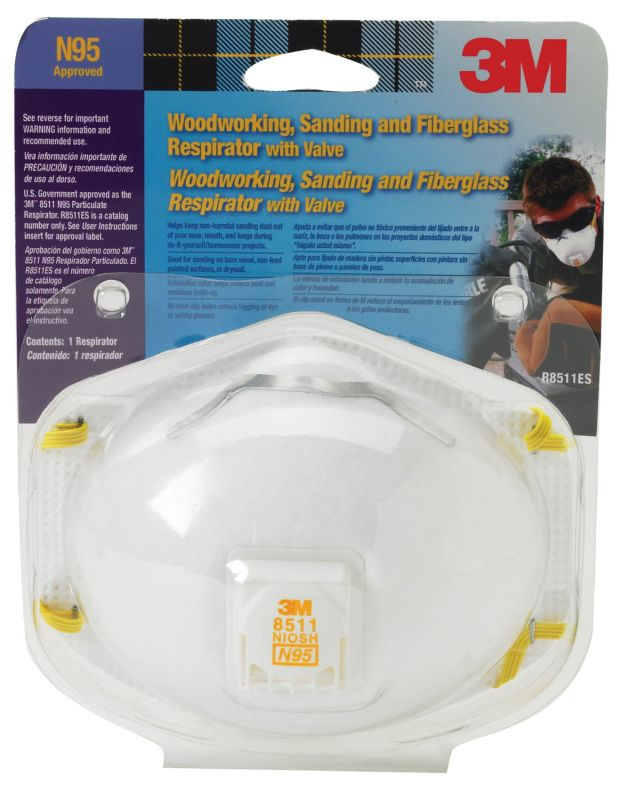 3M 8511PA1 A Particulate Respirator with Valve 1 Pack