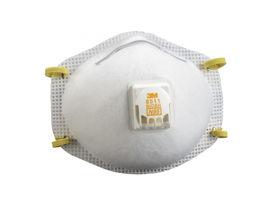 3M 8511PB1 A Sanding and Fiberglass Respirators With Cool Flow Valve 10 Pack