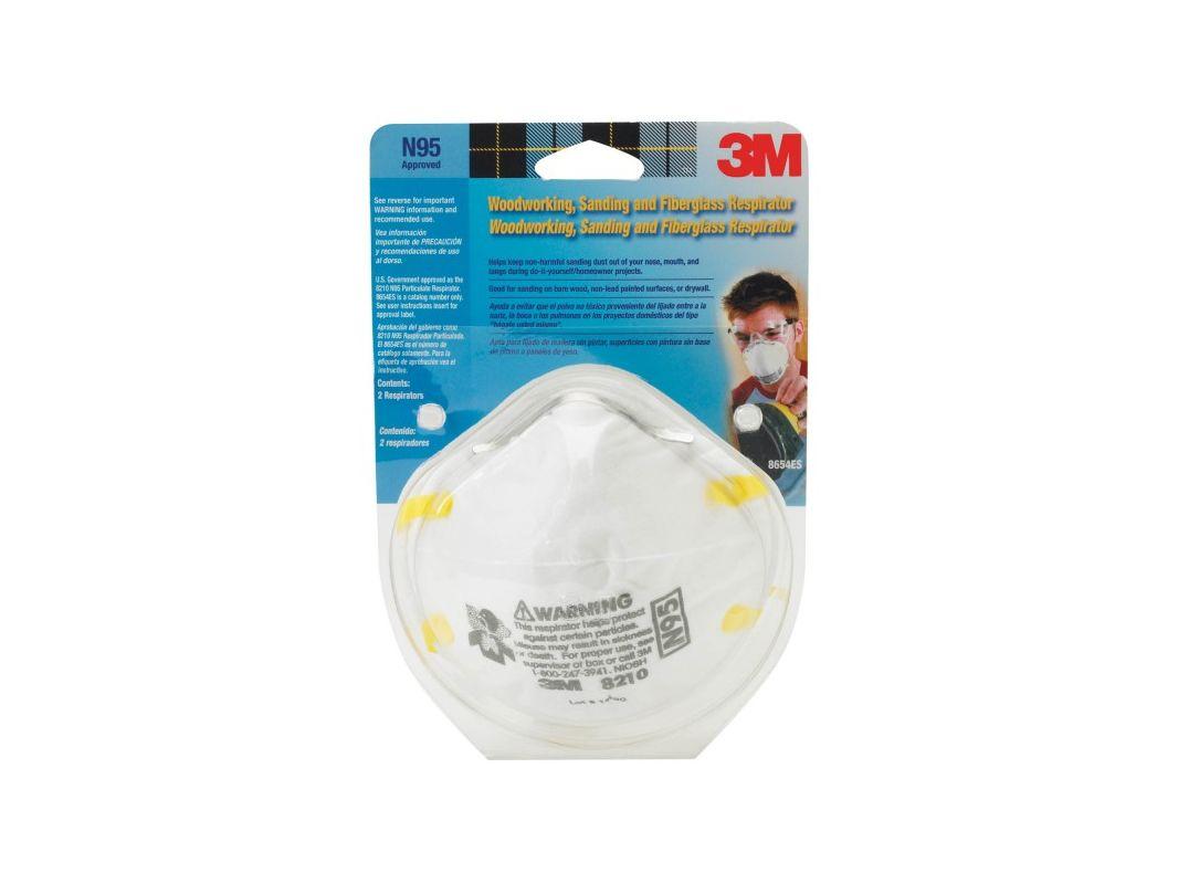 3M 8210PA1 A Sanding and Fiberglass Insulation Respirator