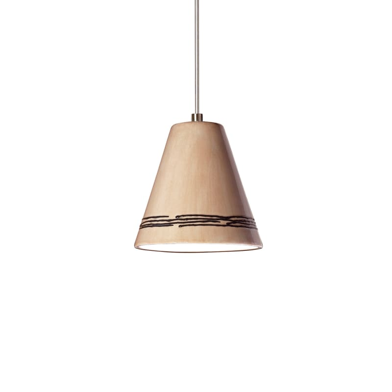 A19 LVMP15 Strands One Light Mini Pendant from the Islands of Light Collection