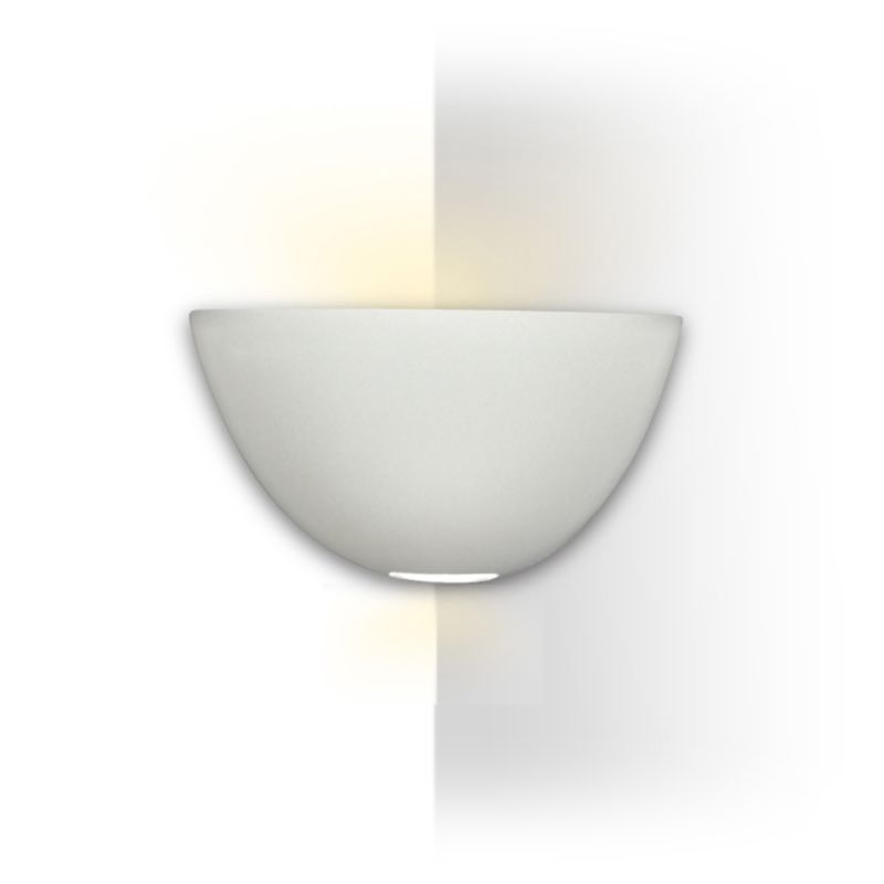 A19 304CNR Modern Corner Sconce Gran Aegina Round Wall Light from the Islands