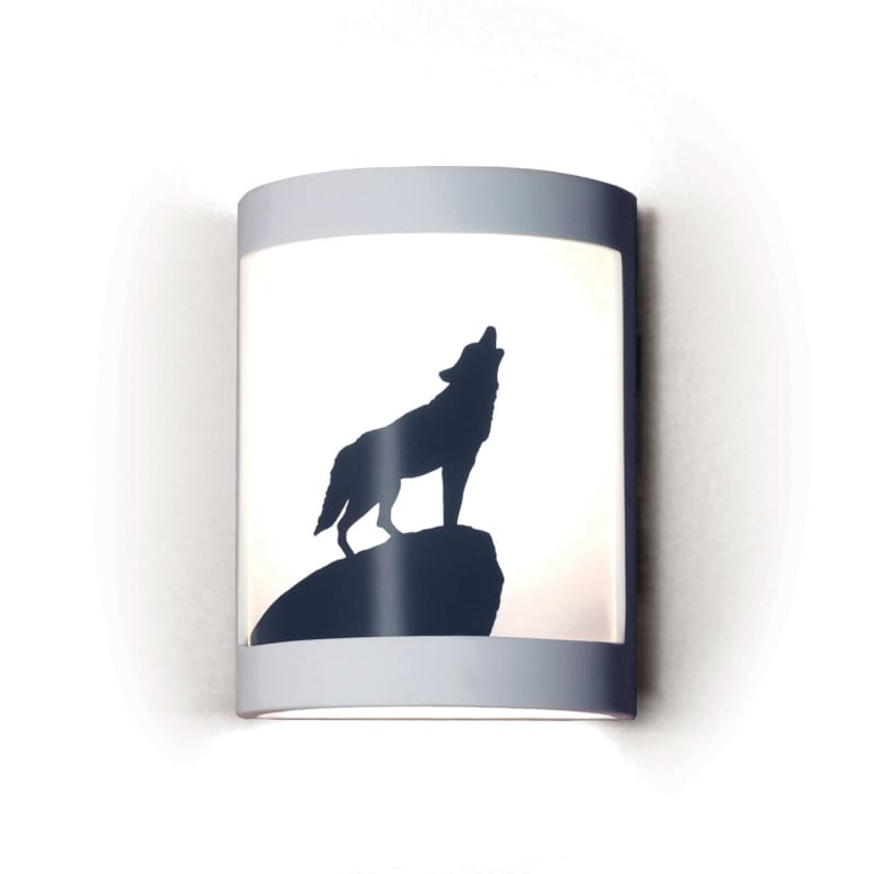 A19 F200H Lone Wolf One Light Wall Sconce from the Silhouette Collection