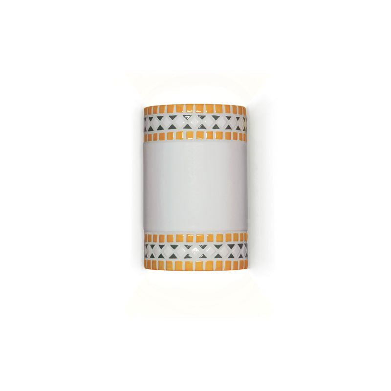 A19 M20301 Borders One Light Wall Sconce from the Mosaic Collection