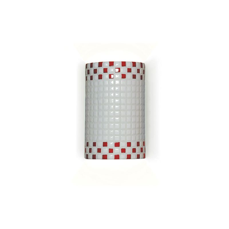A19 M20309 Checkers One Light Wall Sconce from the Mosaic Collection