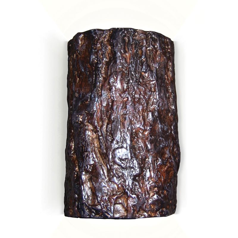 A19 N20302 Wood Sconce Tree Bark Ceramic Light Fixture from the Nature Collect