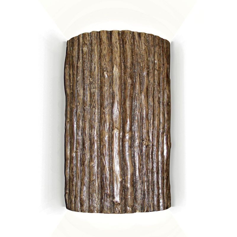 A19 N20303 Wood Sconce Twigs Ceramic Light Fixture from the Nature Collection