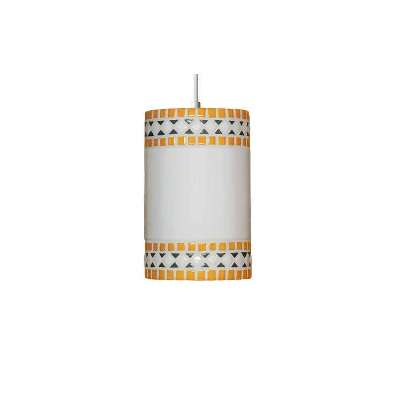 A19 PM20301 Borders Single Light Pendant from the Mosaic Collection