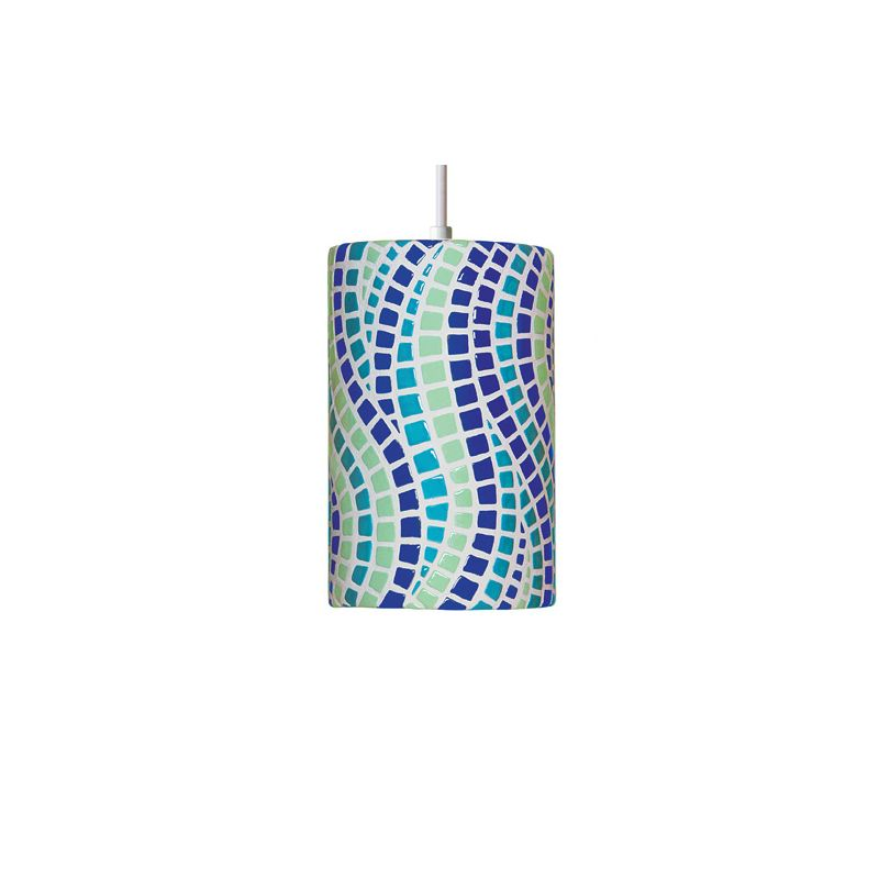 A19 PM20302 Channels Single Light Pendant from the Mosaic Collection