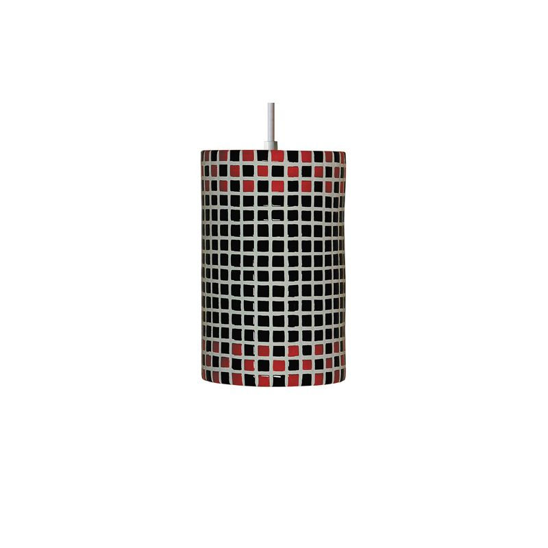 A19 PM20309 Checkers Single Light Pendant from the Mosaic Collection