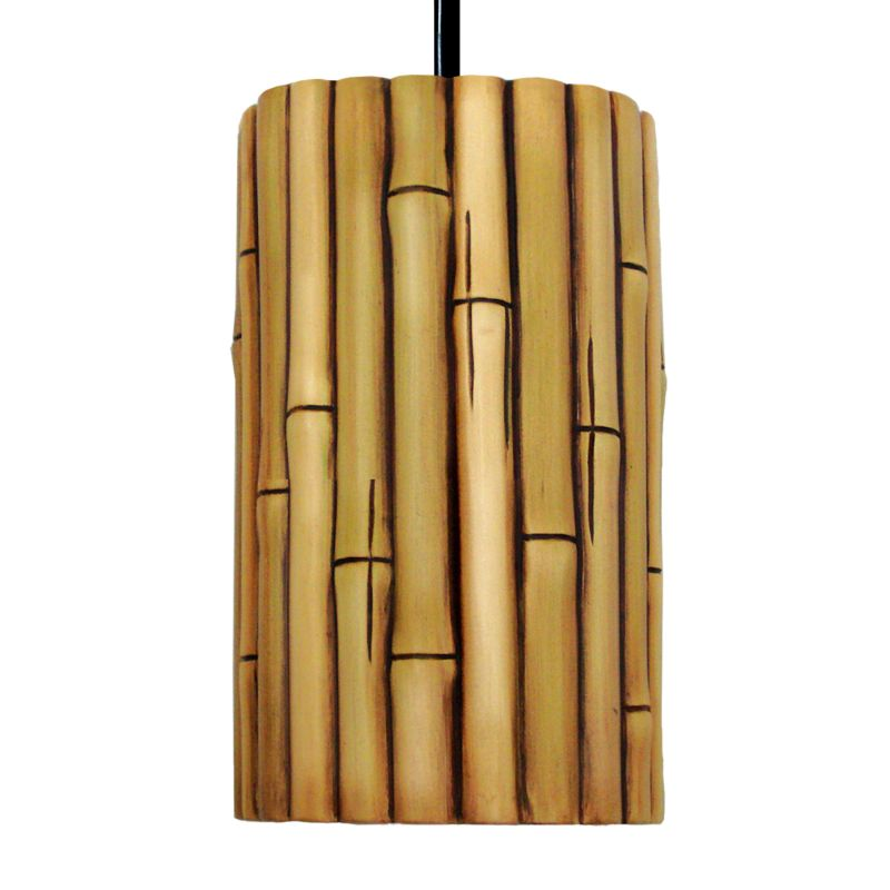 A19 PN20301 Bamboo Single Light Pendant from the Nature Collection