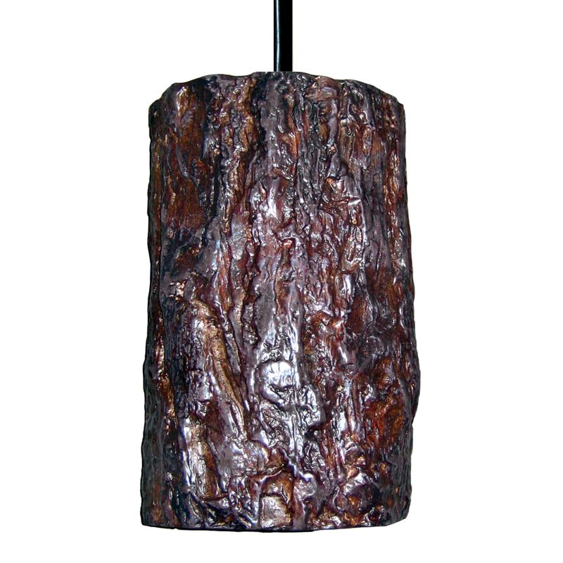 A19 PN20302 Bark Single Light Pendant from the Nature Collection