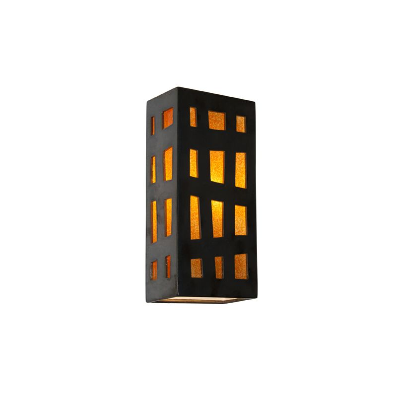 A19 RE110 Grid 1 Light Wall Washer Sconce from the reFusion Collection