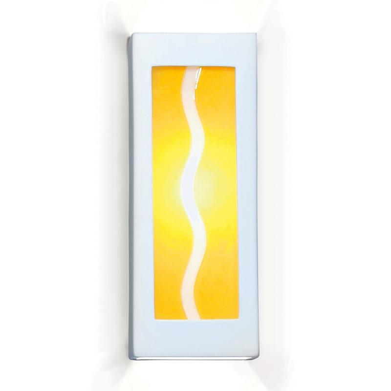 A19 G1B Amber Wave One Light Wall Sconce from the Jewel Collection