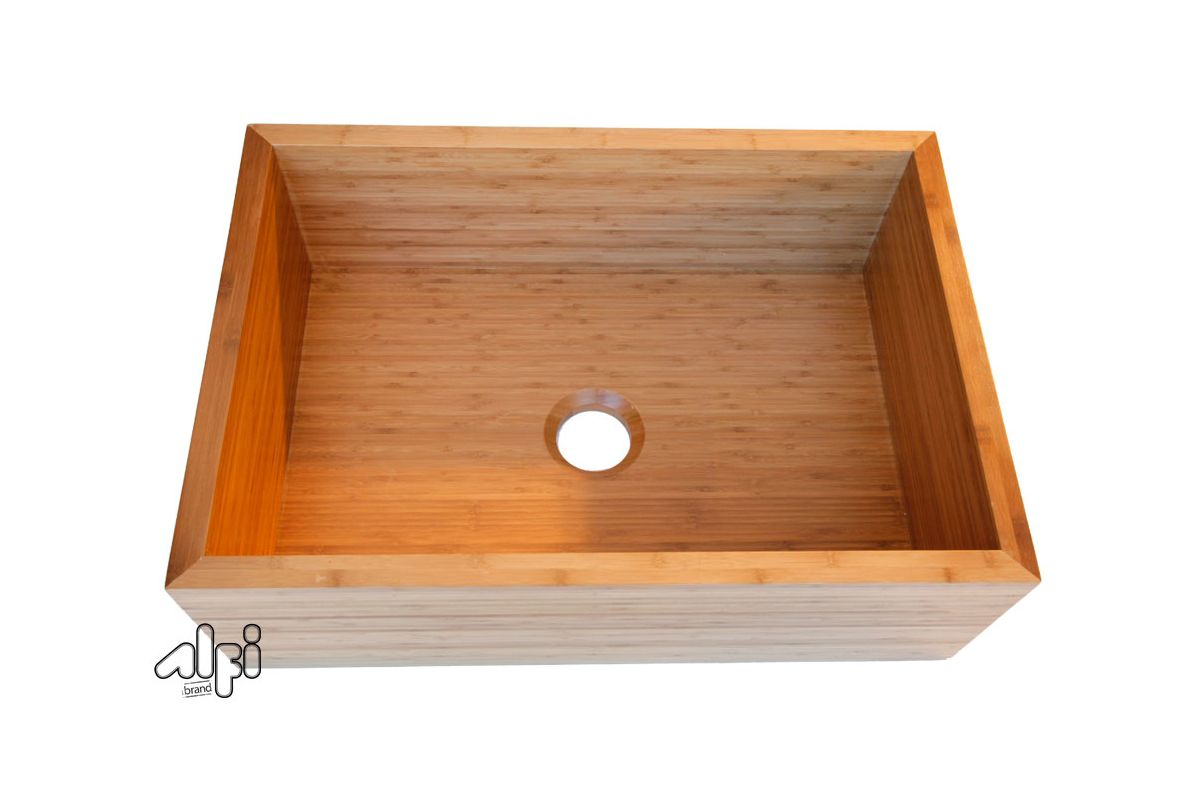 Farmhouse Sinks Cheap : ALFI Brand AB3021 30 Kitchen Sink Farmhouse Sink Made of Bamboo Single ...