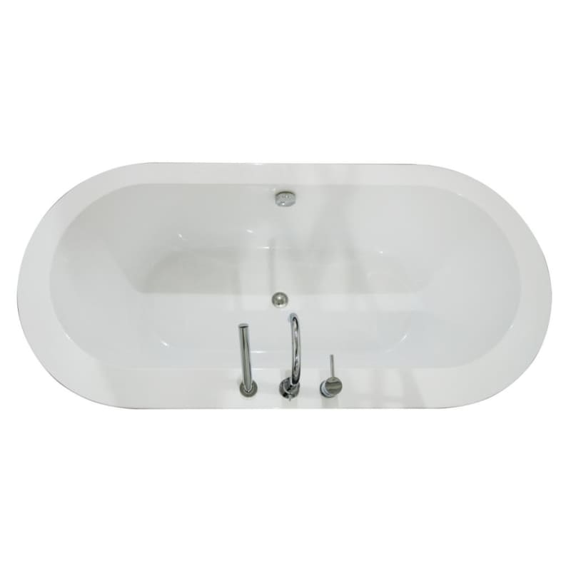 A and E Bath and Shower Una 71 Acrylic Soaking Bathtub for Free Standing Instal