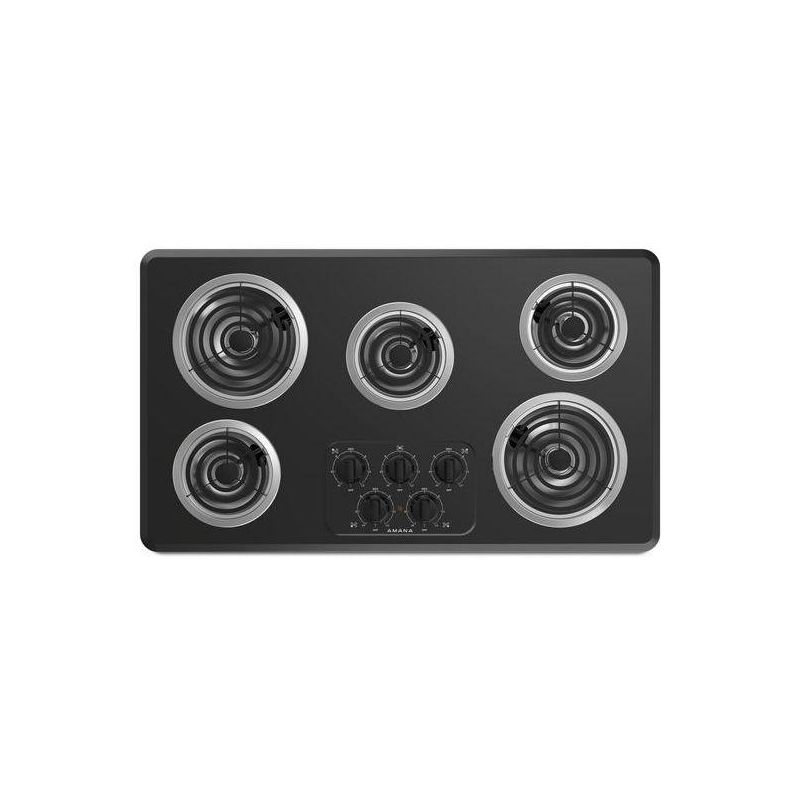 Amana ACC6356KF 36 Inch Wide Five Burner Electric Cooktop with Chrome Drip Pan photo