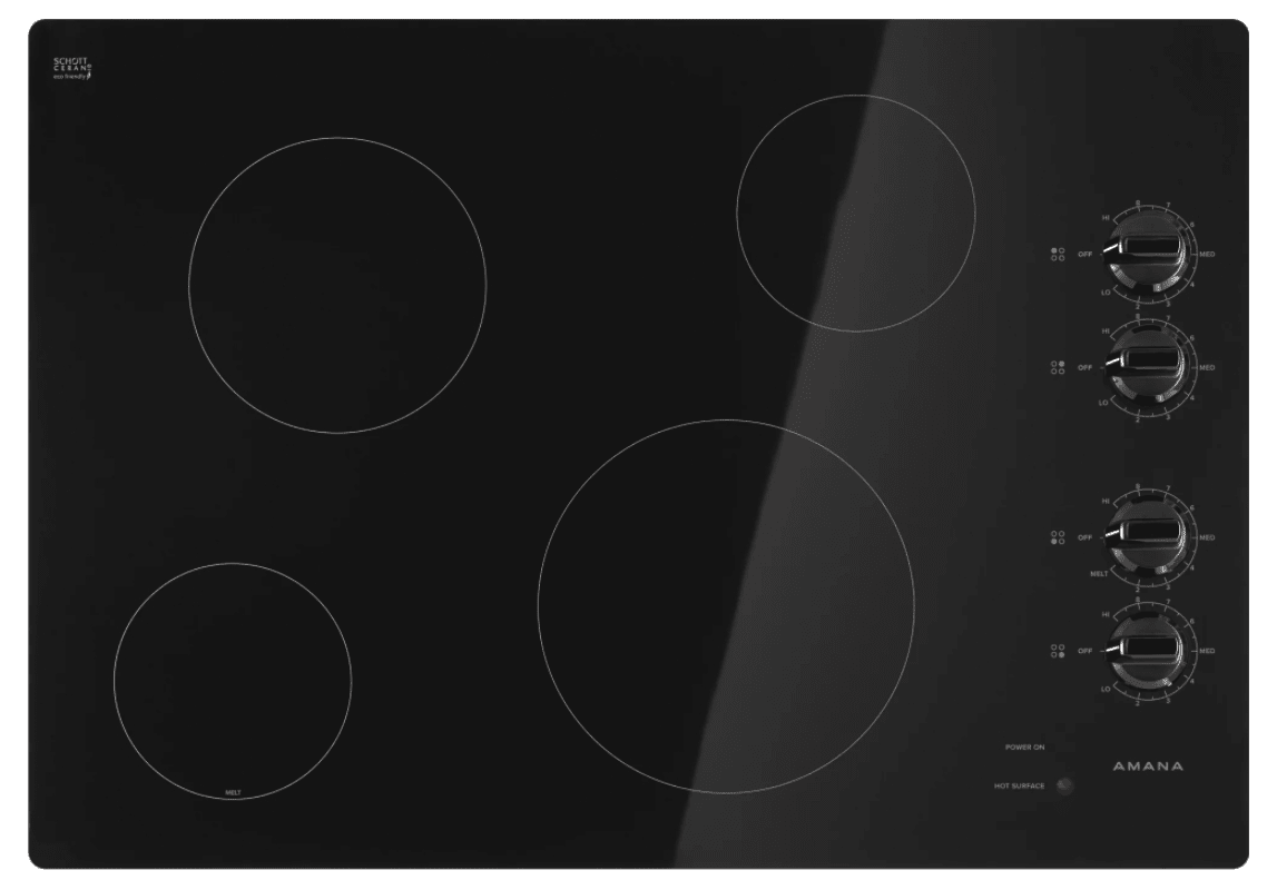 Amana AEC6540KF 30 Inch Wide Built-In Electric Cooktop with Keep Warm Setting photo