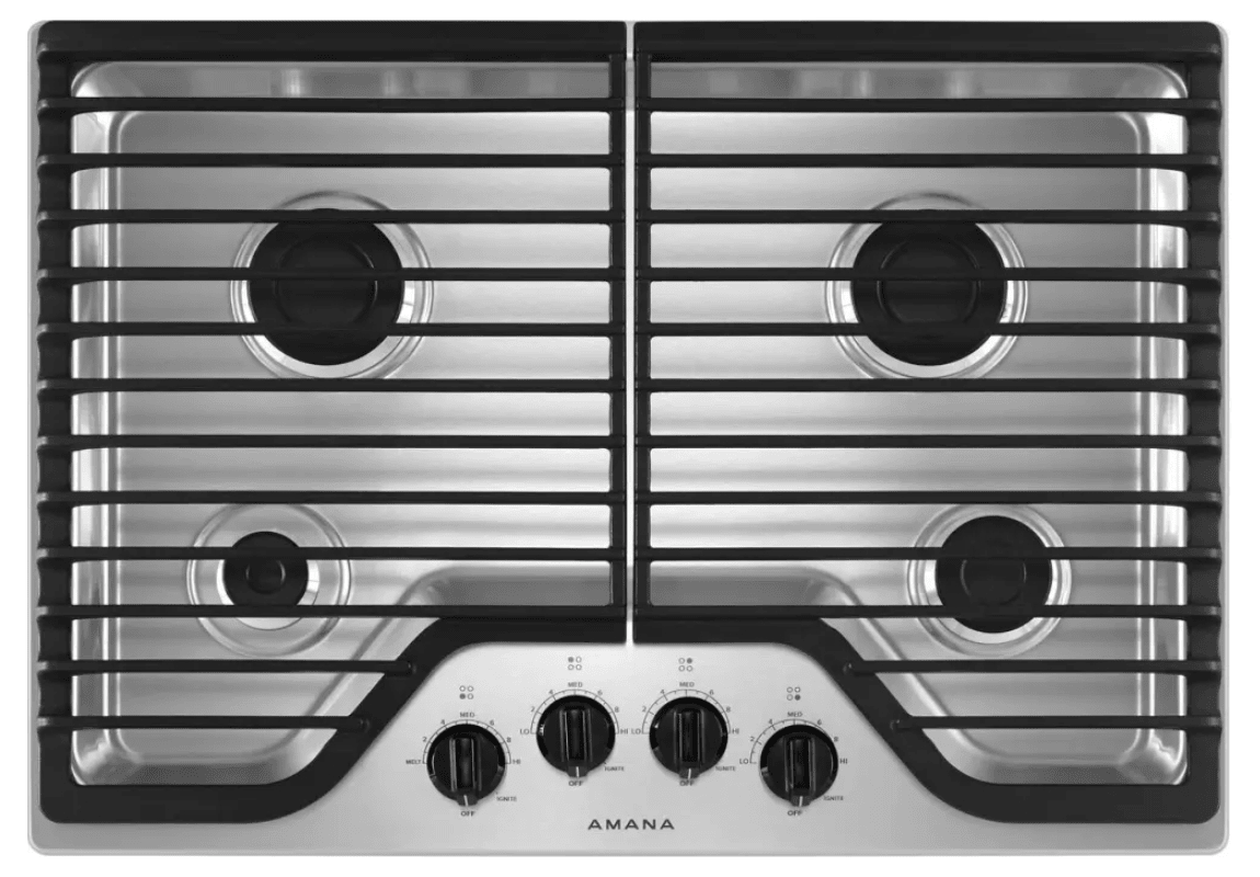Amana AGC6540KF 30 Inch Wide Built-In Gas Cooktop with 12,000 BTU Speed Heat Bur photo