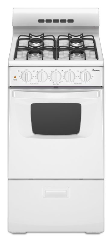 Amana AGG222VD 20 Inch Wide 2.6 Cu. Ft. Free Standing Gas Range with SpillSaver photo