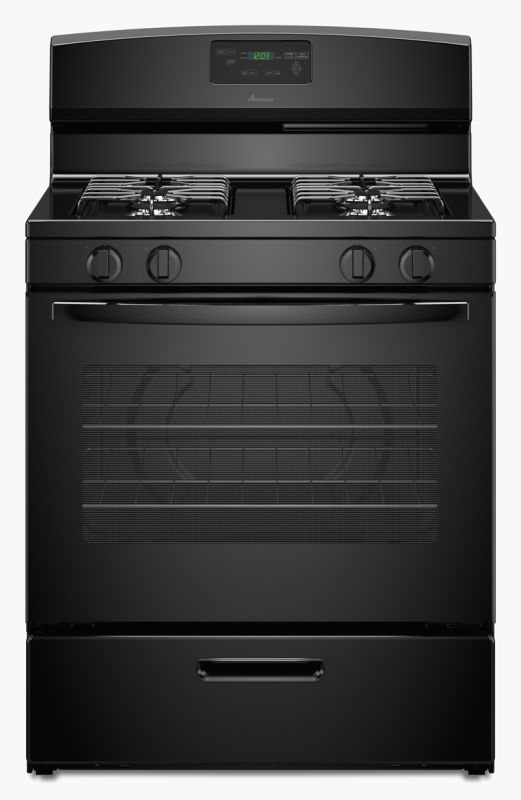 Amana AGR5330BA 30 Inch Wide 5.1 Cu. Ft. Free Standing Gas Range with SpillSaver photo