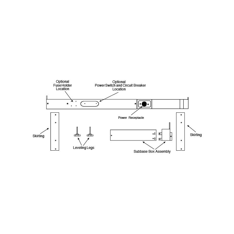 Amana PTSB330E Sub-Base Kit for 230/208 Volt, 30 Amp Amana PTAC Units photo