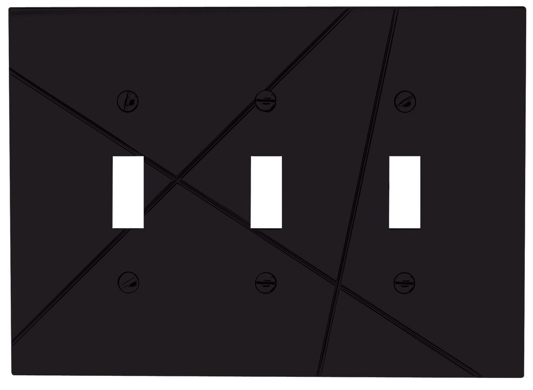 atlas homewares nstt modernist triple toggle switch plate