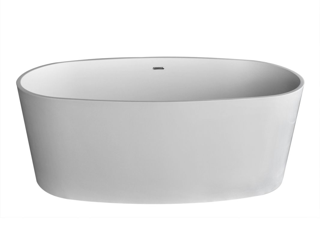 "Avano AV6131KWSXCWXX Freestanding Bathtubs 61-3/8"" Man Made Stone Soaking Bathtu"