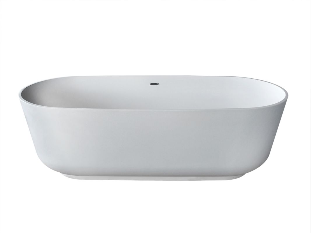 "Avano AV7131ASSXCWXX Freestanding Bathtubs 70-7/8"" Man Made Stone Soaking Bathtu"