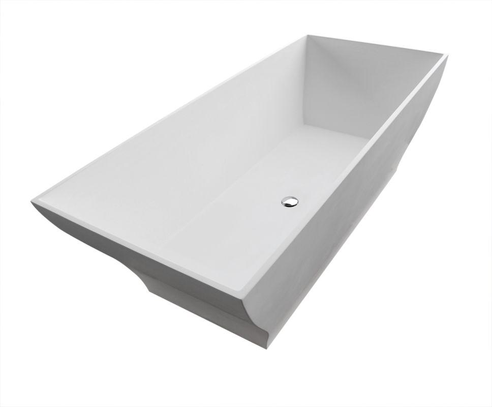 "Avano AV7131BHSXCWXX Freestanding Bathtubs 70-7/8"" Man Made Stone Soaking Bathtu"